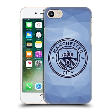 Official Manchester City Man City Fc Badge Geometric Blue Obsidian Mono Hard Back Case For Apple Iphone 7