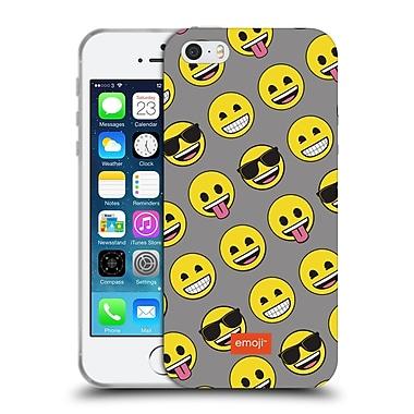 Official Emoji Flat Smileys Soft Gel Case For Apple Iphone 5 / 5S / Se
