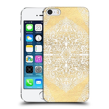 Official Micklyn Le Feuvre Floral Patterns White Gouache Hard Back Case For Apple Iphone 5 / 5S / Se