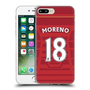 Official Liverpool Football Club Players Home Kit 16/17 Group 2 Moreno Soft Gel Case For Apple Iphone 7 Plus
