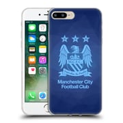 Official Manchester City Man City Fc Crest Geometric Obsidian Full Sky Blue Soft Gel Case For Apple Iphone 7 Plus