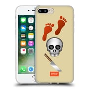 Official Emoji Movies And Series Red Footprints Soft Gel Case For Apple Iphone 7 Plus