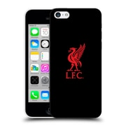 Official Liverpool Football Club Liver Bird Red Logo On Black Hard Back Case For Apple Iphone 5C