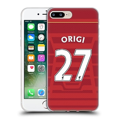 Official Liverpool Football Club Players Home Kit 16/17 Group 2 Origi Soft Gel Case For Apple Iphone 7 Plus
