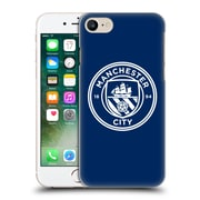Official Manchester City Man City Fc Badge Obsidian White Mono Hard Back Case For Apple Iphone 7