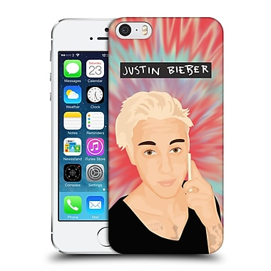 Official Justin Bieber Justmojis Tie Dye Hard Back Case For Apple Iphone 5 / 5S / Se