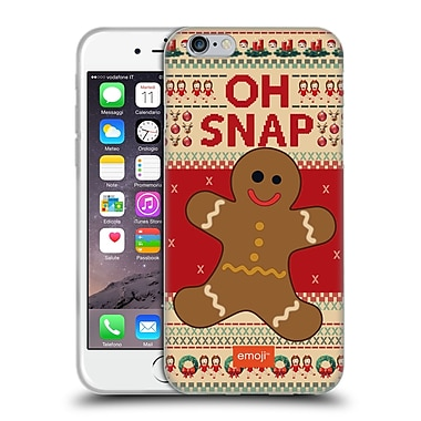 Official Emoji Ugly Christmas Gingerbread Soft Gel Case For Apple Iphone 6 / 6S