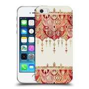 Official Micklyn Le Feuvre Modern Deco Royal Red Art Soft Gel Case For Apple Iphone 5 / 5S / Se