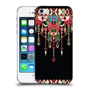Official Micklyn Le Feuvre Modern Deco Red And Black Soft Gel Case For Apple Iphone 5 / 5S / Se