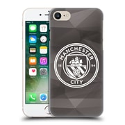 Official Manchester City Man City Fc Badge Geometric Black White Mono Hard Back Case For Apple Iphone 7