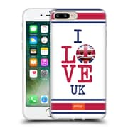 Official Emoji I Love My Country Uk Soft Gel Case For Apple Iphone 7 Plus