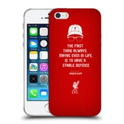 Official Liverpool Football Club Klopp Quotes Defence Soft Gel Case For Apple Iphone 5 / 5S / Se