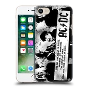 Official Ac/Dc Acdc Lyrics Dogs Of War Hard Back Case For Apple Iphone 7