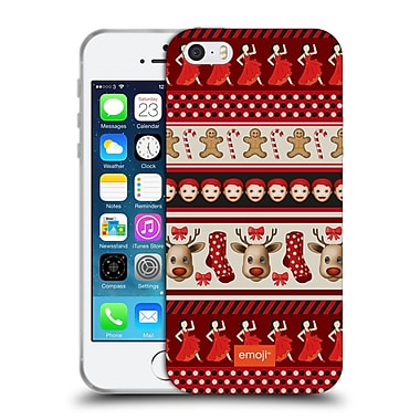 Official Emoji Christmas Patterns Red Theme Soft Gel Case For Apple Iphone 5 / 5S / Se