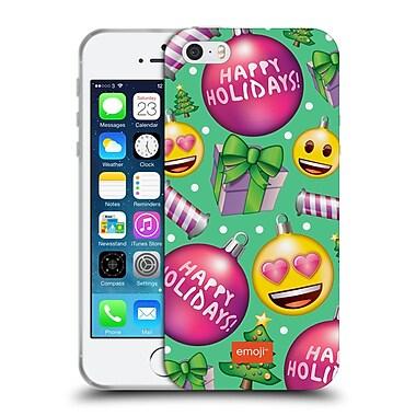 Official Emoji Christmas Patterns Pink Baubles Soft Gel Case For Apple Iphone 5 / 5S / Se