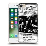 Official Ac/Dc Acdc Lyrics Rock The Blues Away Hard Back Case For Apple Iphone 7