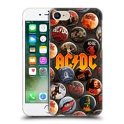Official Ac/Dc Acdc Button Pins Logo Hard Back Case For Apple Iphone 7