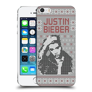 Official Justin Bieber Knitted Christmas Calendar Image Hard Back Case For Apple Iphone 5 / 5S / Se