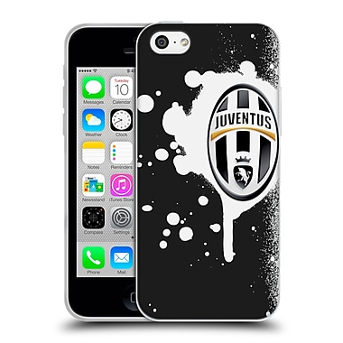Official Juventus Football Club Lifestyle Splat Black Soft Gel Case For Apple Iphone 5C