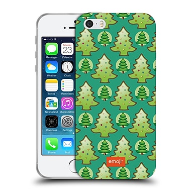 Official Emoji Christmas Patterns Trees Soft Gel Case For Apple Iphone 5 / 5S / Se