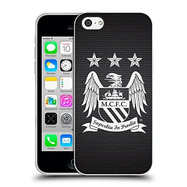 Official Manchester City Man City Fc Crest Pixels One Colour Null Cube Soft Gel Case For Apple Iphone 5C
