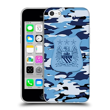 Official Manchester City Man City Fc Camou City Colourways One Colour Soft Gel Case For Apple Iphone 5C