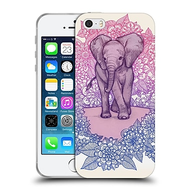 Official Micklyn Le Feuvre Animals Cute Baby Elephant Soft Gel Case For Apple Iphone 5 / 5S / Se