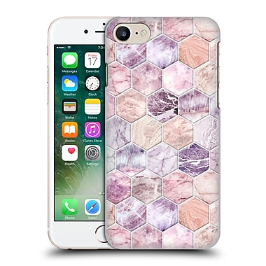 Official Micklyn Le Feuvre Marble Patterns Rose Quartz And Amethyst Stone And Hexagon Tile Hard Back Case For Apple Iphone 7
