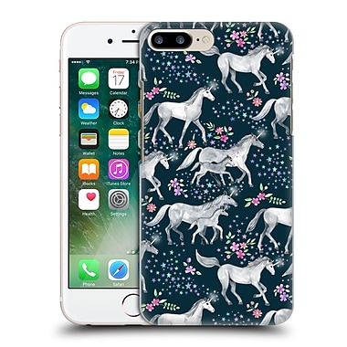 Official Micklyn Le Feuvre Wildlife Stars And Unicorns On Dark Teal Hard Back Case For Apple Iphone 7 Plus