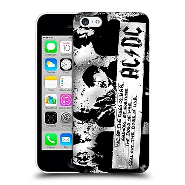 Official Ac/Dc Acdc Lyrics Dogs Of War Hard Back Case For Apple Iphone 5C