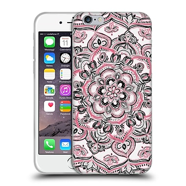 Official Micklyn Le Feuvre Floral Patterns Monochrome And Pink Soft Gel Case For Apple Iphone 6 / 6S