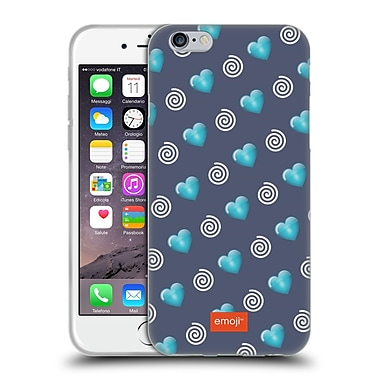 Official Emoji Winter Patterns Hearts And Swirls Soft Gel Case For Apple Iphone 6 / 6S