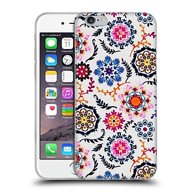 Official Micklyn Le Feuvre Florals 2 Happy Colour Suzani Inspired Pattern Soft Gel Case For Apple Iphone 6 / 6S