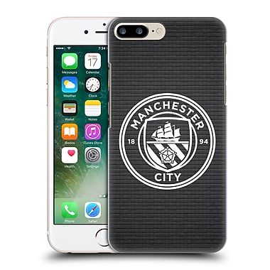 Official Manchester City Man City Fc Badge Pixels Black Tile White Mono Hard Back Case For Apple Iphone 7 Plus