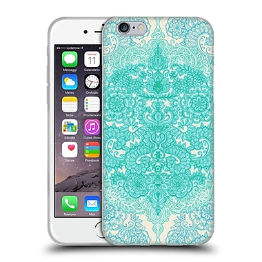 Official Micklyn Le Feuvre Floral Patterns Mint Green And Aqua Soft Gel Case For Apple Iphone 6 / 6S
