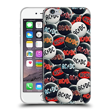 Official Ac/Dc Acdc Button Pins Black And White Soft Gel Case For Apple Iphone 6 / 6S