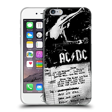 Official Ac/Dc Acdc Lyrics We Rock It And We Roll It Soft Gel Case For Apple Iphone 6 / 6S