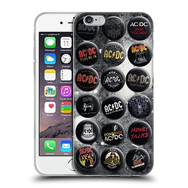 Official Ac/Dc Acdc Button Pins Songs Soft Gel Case For Apple Iphone 6 / 6S