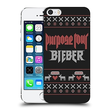 Official Justin Bieber Knitted Christmas Purpose Tour Hard Back Case For Apple Iphone 5 / 5S / Se