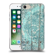 Official Micklyn Le Feuvre On Wood Teal And Aqua Botanical Doodle On Weathered Soft Gel Case For Apple Iphone 7