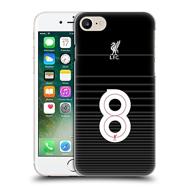 Official Liverpool Football Club Shirt Away Shirt Black No 8 Hard Back Case For Apple Iphone 7