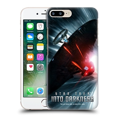 Official Star Trek Posters Into Darkness Xii Starship Warp Chase Hard Back Case For Apple Iphone 7 Plus