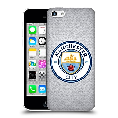 Official Manchester City Man City Fc Badge Pixels Mosaic Full Colour Hard Back Case For Apple Iphone 5C
