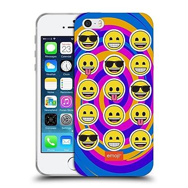 Official Emoji Flat Swirl Soft Gel Case For Apple Iphone 5 / 5S / Se
