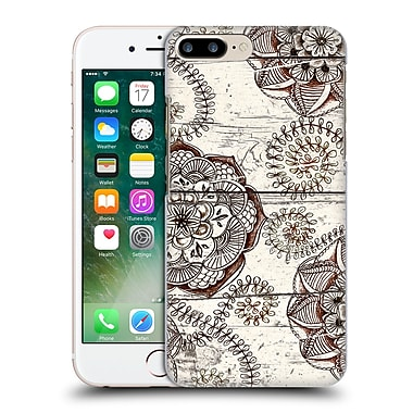 Official Micklyn Le Feuvre On Wood Coffee And Cocoa Brown And Cream Floral Mandalas Hard Back Case For Apple Iphone 7 Plus