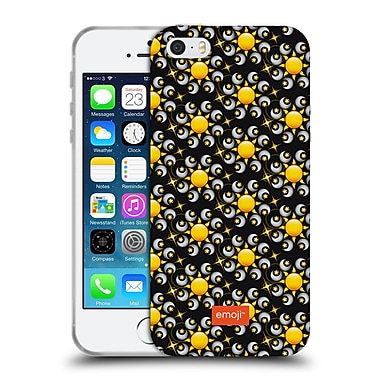 Official Emoji Floral Patterns Moon And Sun Soft Gel Case For Apple Iphone 5 / 5S / Se