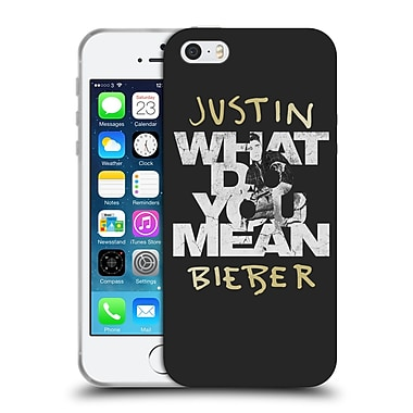 Official Justin Bieber Purpose B&W What Do You Mean Typography Soft Gel Case For Apple Iphone 5 / 5S / Se