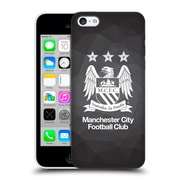 Official Manchester City Man City Fc Crest Geometric Black Geo Full Black Hard Back Case For Apple Iphone 5C