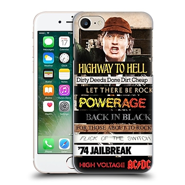 Official Ac/Dc Acdc Collage Album Titles Hard Back Case For Apple Iphone 7