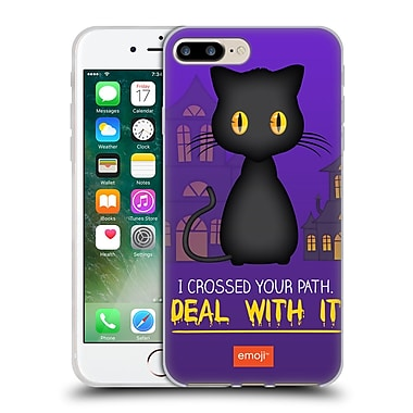 Official Emoji Halloween Parodies Black Cat Soft Gel Case For Apple Iphone 7 Plus